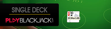 Learn Online Single Deck Blackjack at PlayBlackjack.com