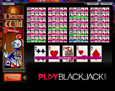 Deuces Wild 25 Line Video Slots for Free at PlayBlackjack.com