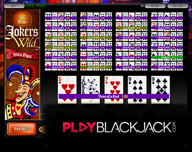 Play Online Jokers Wild 25 Line Video Poker for Free at PlayBlackjack.com