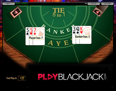 Play Online Baccarat for Free at PlayBlackjack.com