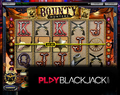 Play Online Bounty Hunters Five-Reel Slots for Free at PlayBlackjack.com