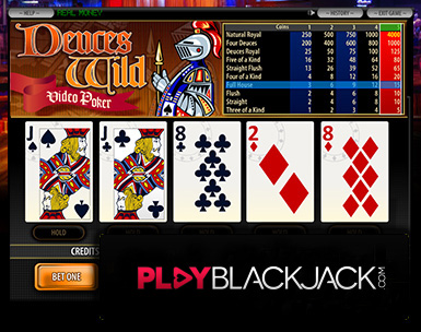 Play Online Deuces Wild Video Poker for Free at PlayBlackjack.com