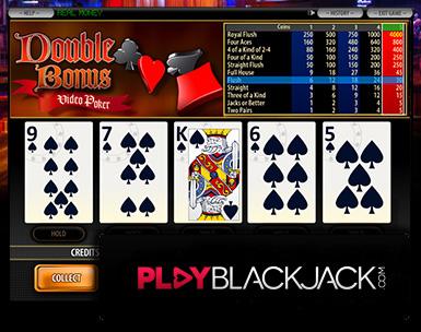 Play Online Double Bonus Poker for Free at PlayBlackjack.com