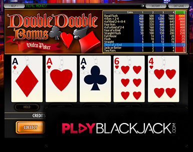 Play Online Double Double Bonus Poker for Free at PlayBlackjack.com