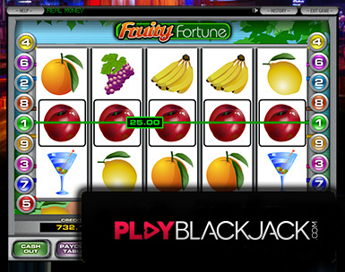 Fruity Fortune Five-Reel Slots for Free at PlayBlackjack.com