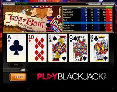 Play Online Jacks or Better Video Poker for Free at PlayBlackjack.com