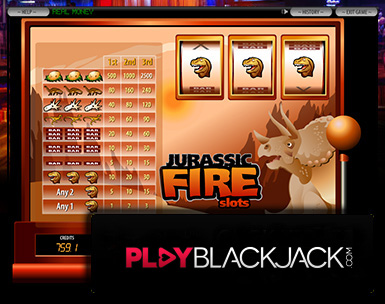Jurassic Fire Video Slots for Free at PlayBlackjack.com