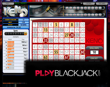 Play Online Keno for Free at PlayBlackjack.com