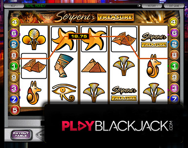 Serpent's Treasure Video Slots for Free at PlayBlackjack.com